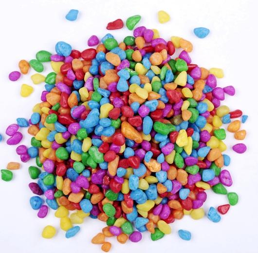 河北鹅卵石价格 不掉色染色五彩石 透水地坪小石子