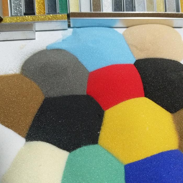 关于我们烧结染色彩石 烧结彩色玻璃微珠  烧结染色彩砂